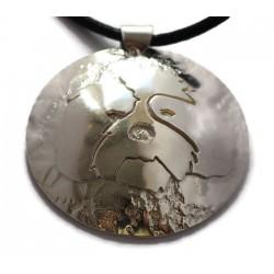 Shih Tzu sterling silver pendant