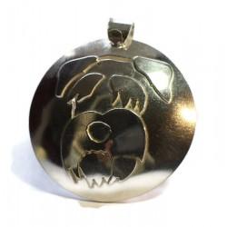 Standard Schnauzer sterling silver pendant